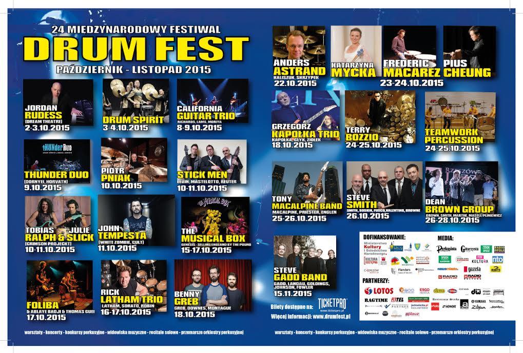 Drum Fest 2015 program