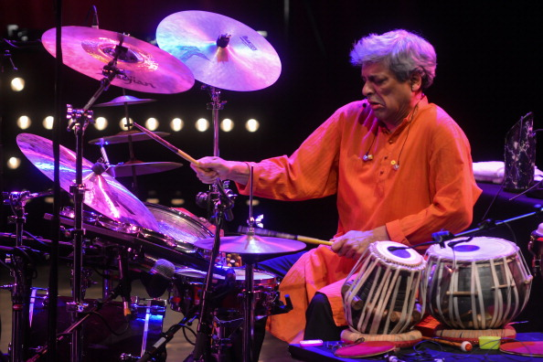 LONDON, ENGLAND - NOVEMBER 24: Indian purcussionist Trilok Gurtu performs on stage at the Queen Elizabeth Hall during the final day of London Jazz Festival 2013 on November 24, 2013 in London, United Kingdom. (Photo by Andy Sheppard/Redferns via Getty Images)