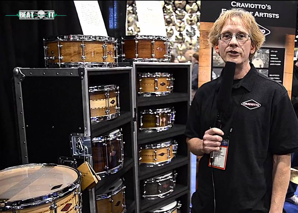 NAMM Show 2017: Craviotto Drums Booth