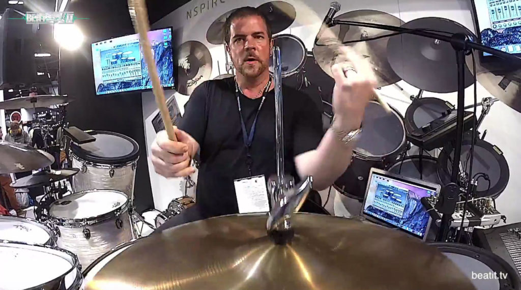 NAMM Show 2017: Russ Miller at Mapex Booth