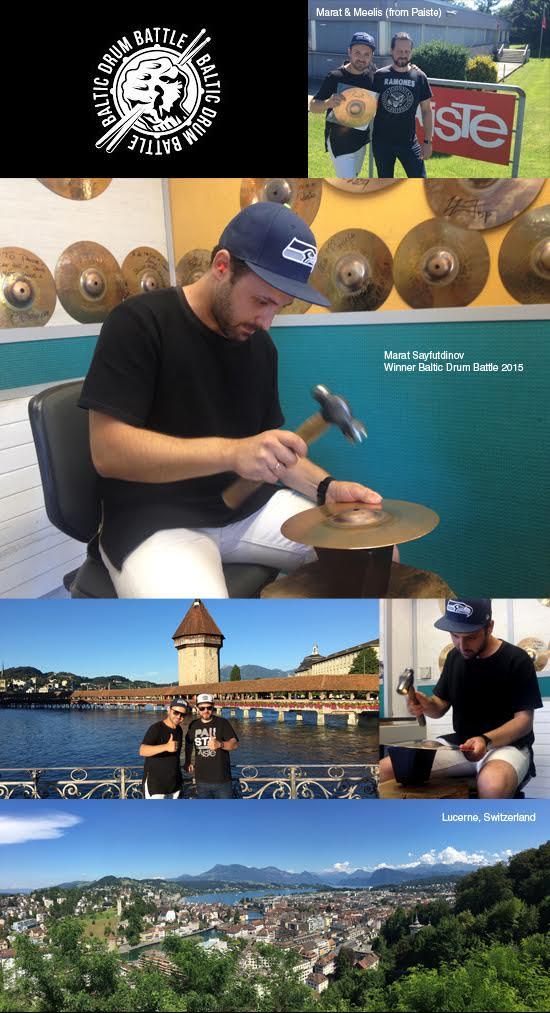 Zwycięzca Baltic Drum Battle zwiedza fabrykę Paiste