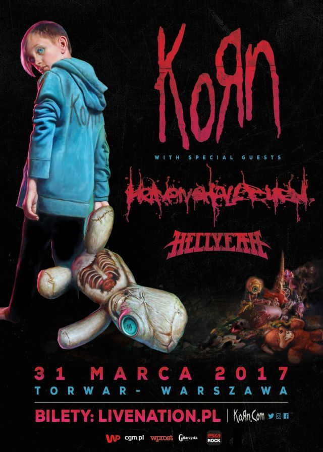 Korn, Heaven Shall Burn i Hellyeah w Polsce