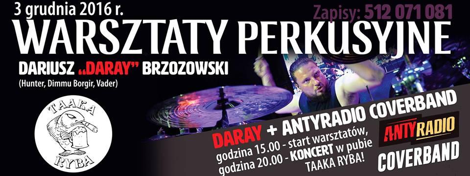 """Dariusz """"Daray"""" Brzozowski: warsztaty"""