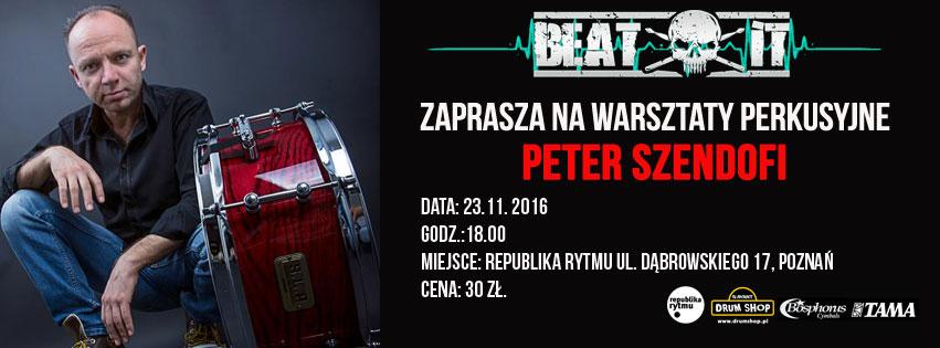 Peter Szendofi: warsztaty w Poznaniu
