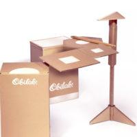 Kartonowy zestaw firmy Obilab