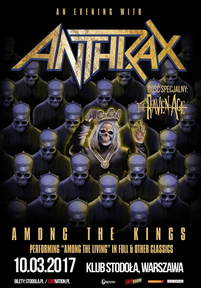 Anthrax zagra koncert w Warszawie