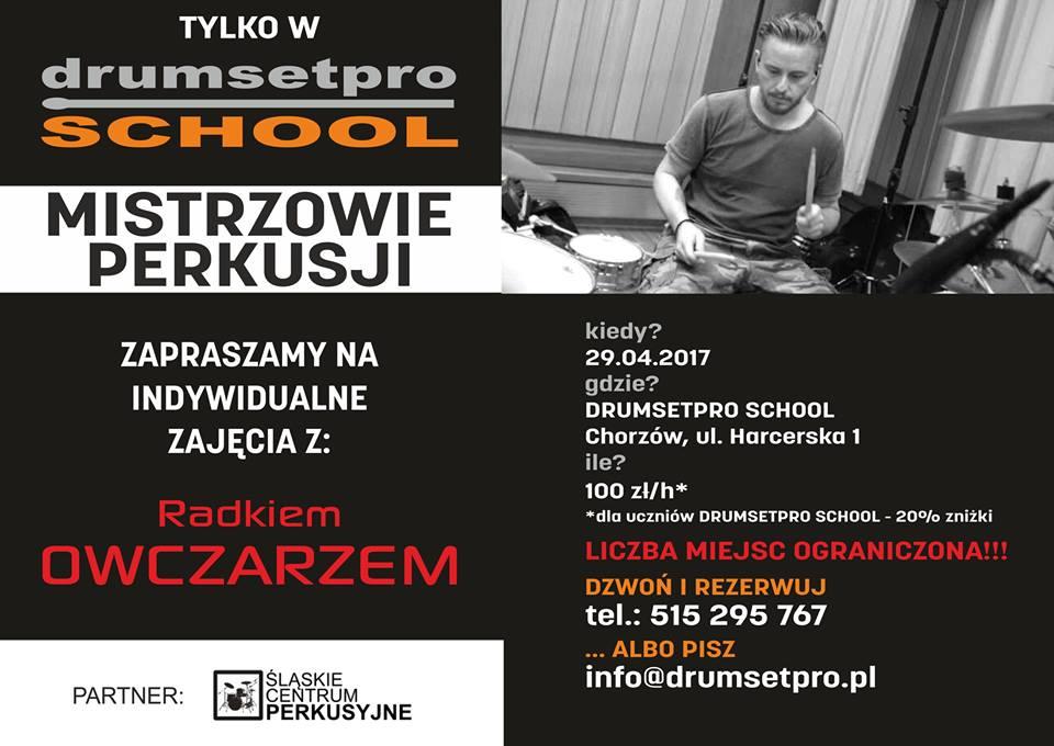 Radek Owczarz w Drumsetpro School