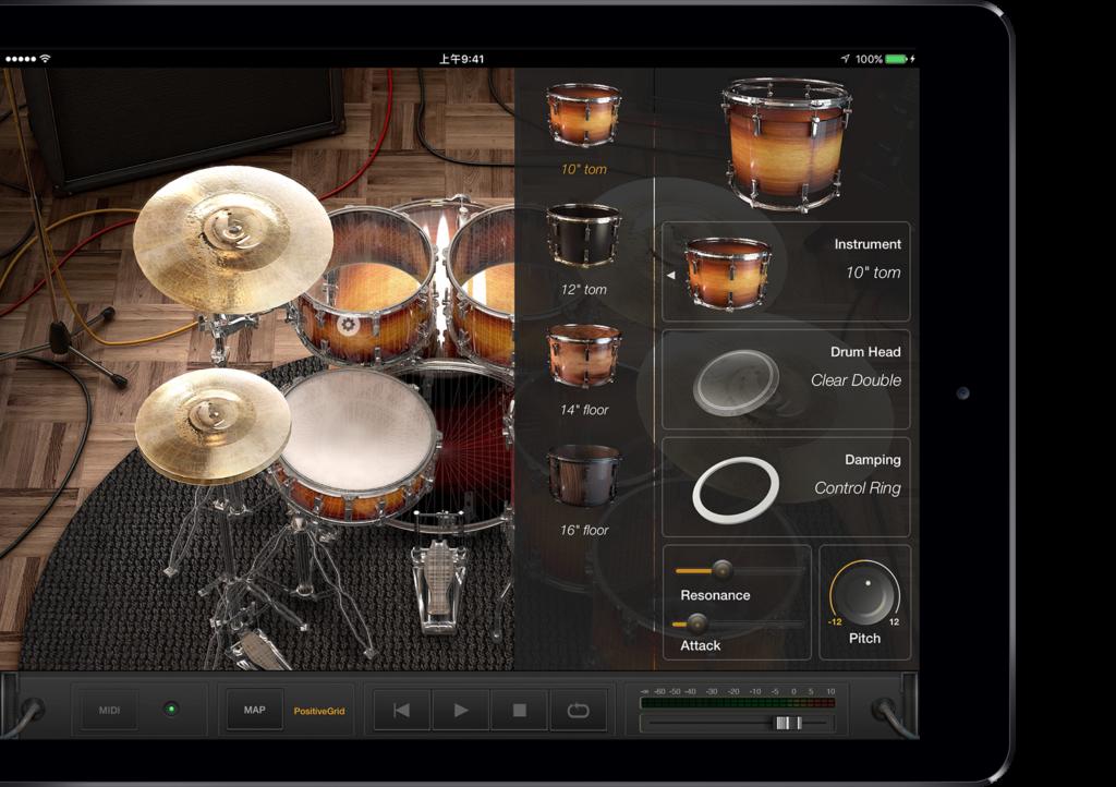 aplikacja perkusyjna na iPada X Drummer