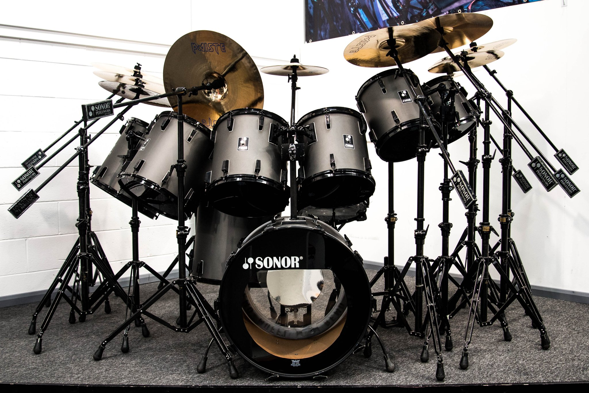 Sonor Somewhere On Tour Nicko McBrain's Drum One