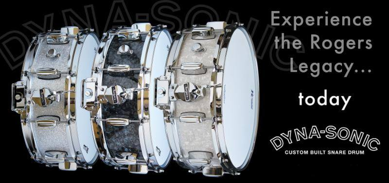 Rogers Dyna-Sonic: White Marine Pearl, Silver Sparkle, Black Diamond Pearl