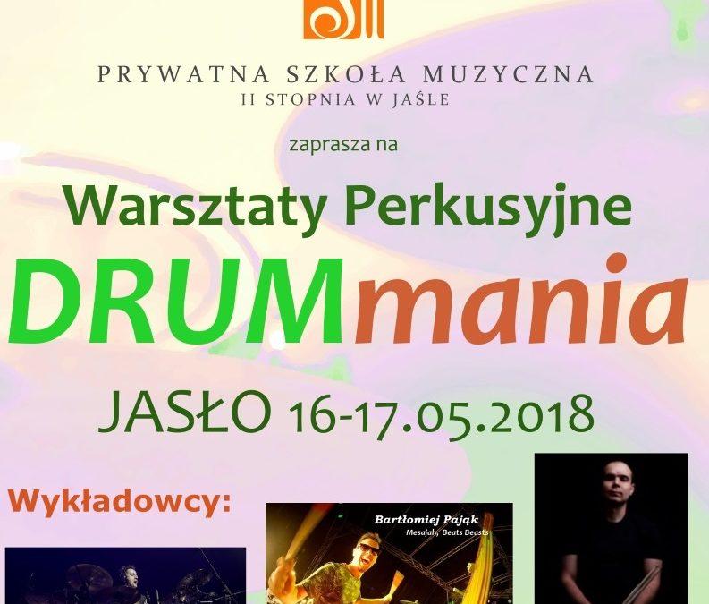 Zapraszamy na warsztaty perkusyjne Drummania Jasło