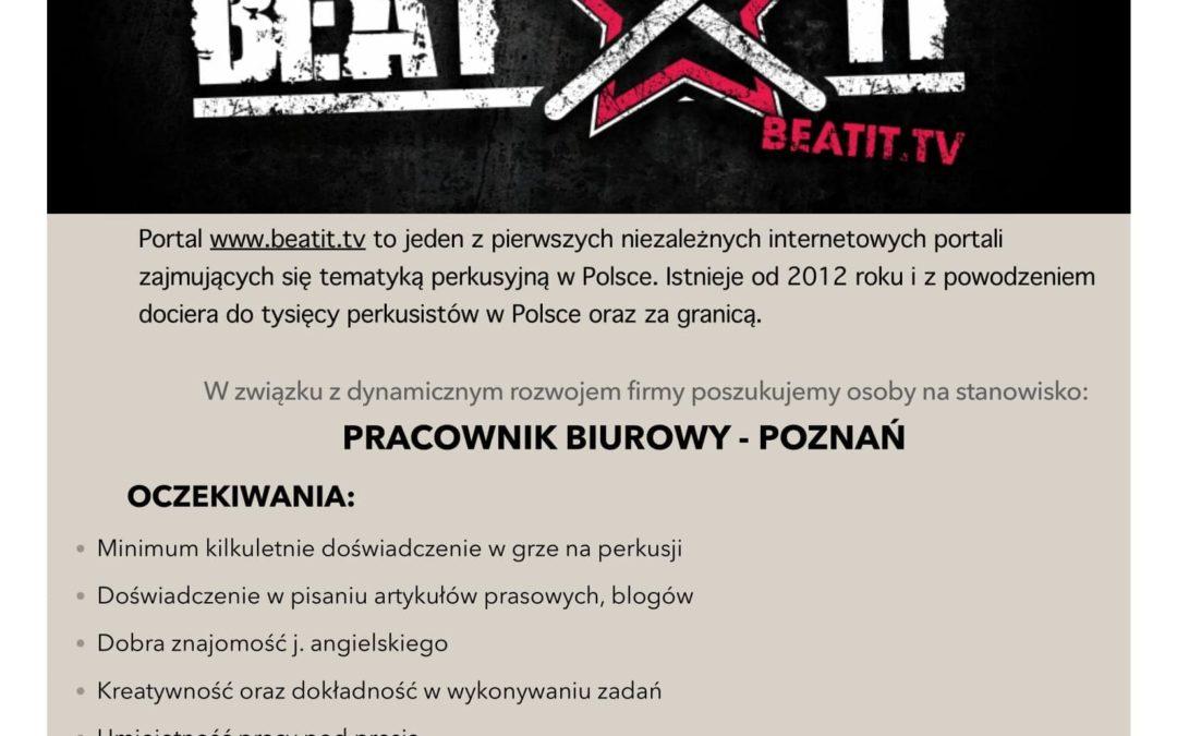 Portal perkusyjny BEATIT poszukuje pracowników