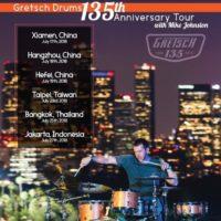 Mike Johnston gwiazdą klinik perkusyjnych z okazji 135-lecia marki Gretsch