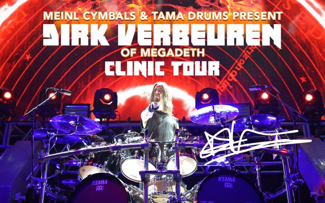 Dirk Verbeuren – Megadeth z serią warsztatów w Polsce i na Węgrzech