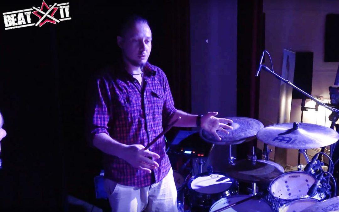 Szymon Fortuna prezentuje swój zestaw perkusyjny