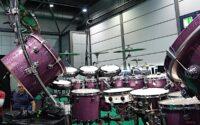 Gary Wallis prezentuje swój zestaw perkusyjny
