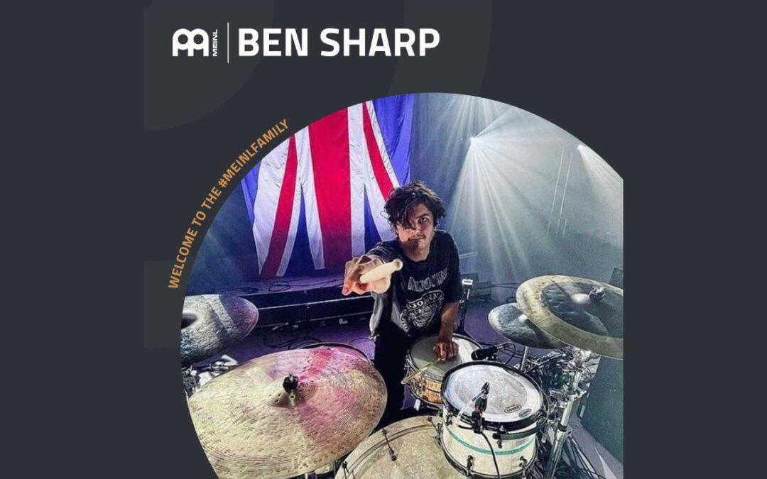 Ben Sharp endorserem Meinl Cymbals