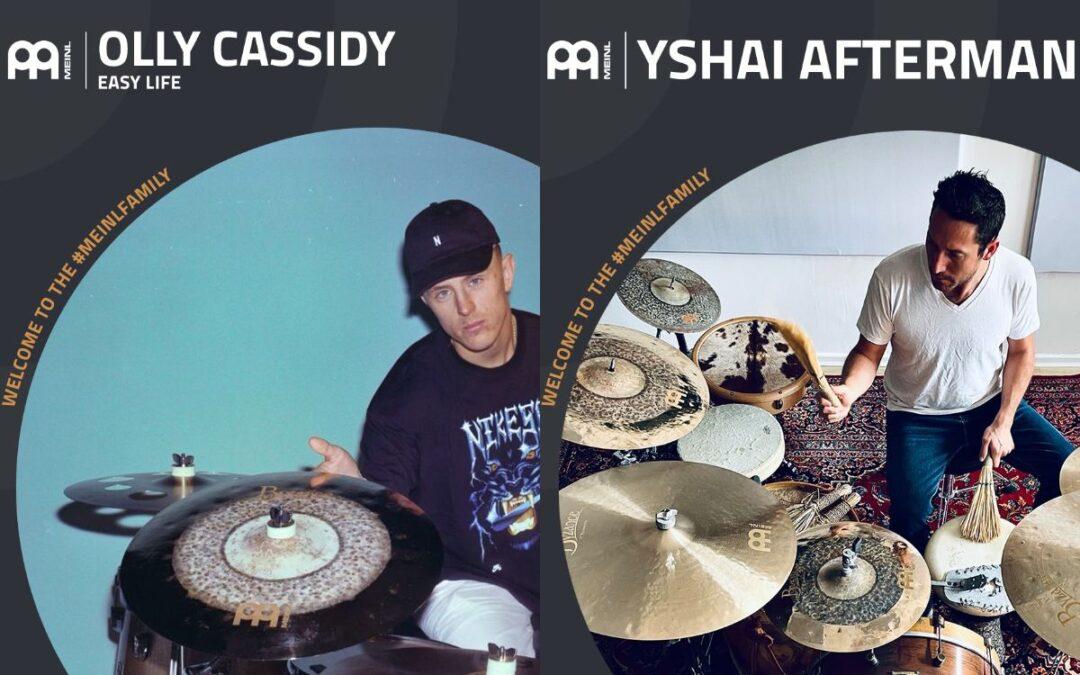 Yshai Afterman i Olly Cassidy endorserami Meinl Cymbals